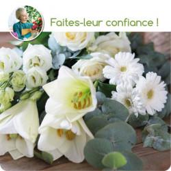 BOUQUET DE FLEURS DU FLEURISTE CORSE - BLANC