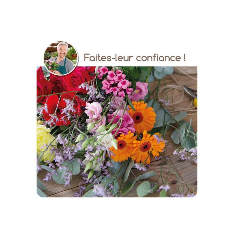 CORSICA FLORIST BOUQUET - COLORED FLOWERS
