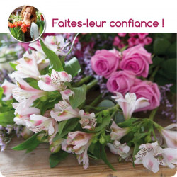 CORSICA FLORIST BOUQUET - PINK FLOWERS