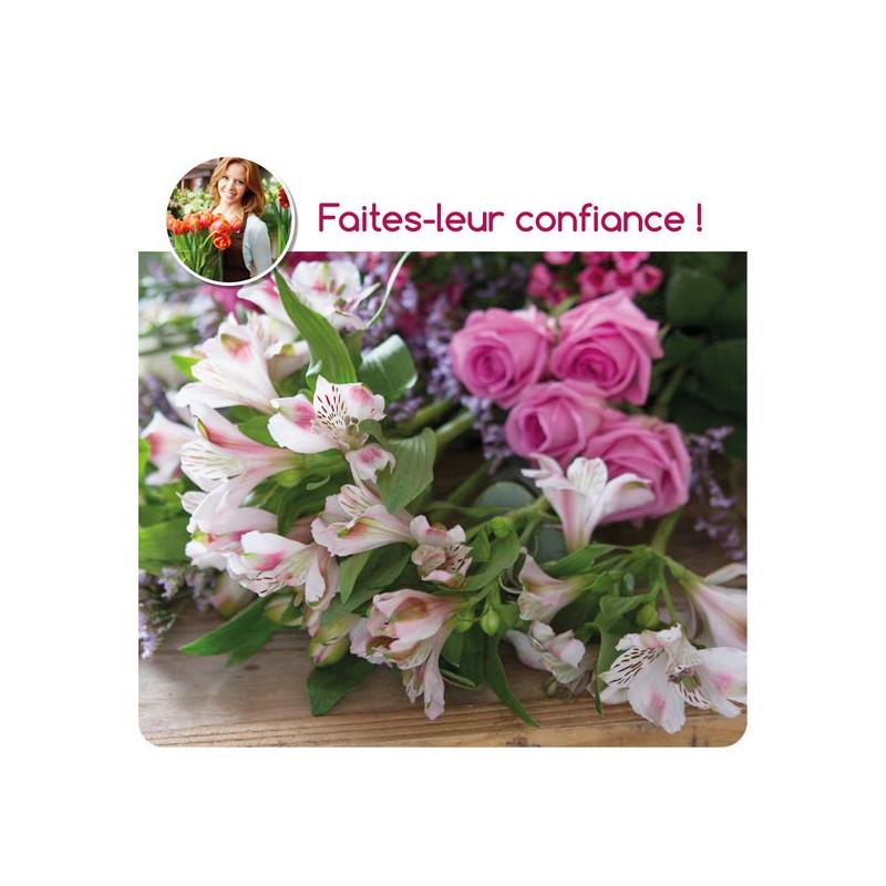 BOUQUET DE FLEURS DU FLEURISTE CORSE - ROSE