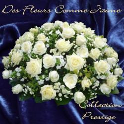 COUSSIN DEUIL PRESTIGE DE ROSES