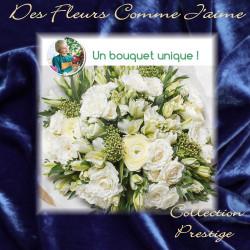PRESTIGE FLORIST BOUQUET - WHITE FLOWERS