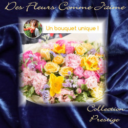 PRESTIGE FLORIST BOUQUET - COLORED FLOWERS