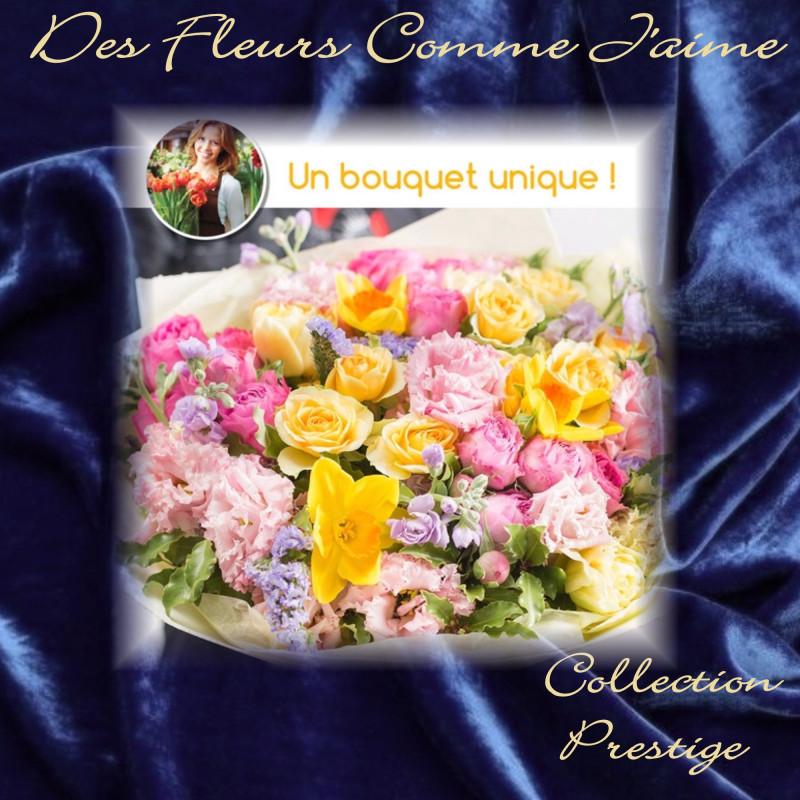 PRESTIGE FLORIST BOUQUET - COLORED FLOWERS