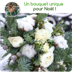 FLORIST BOUQUET FOR CHRISTMAS - WHITE TONES