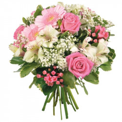 BOUQUET CORSE LA VIE EN ROSE