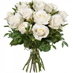 ROSES BLANCHES BOUQUET DOM-COM
