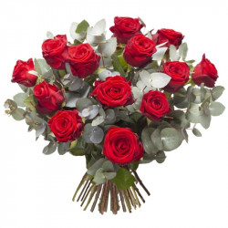 FLOWERS BOUQUET RED ROSES