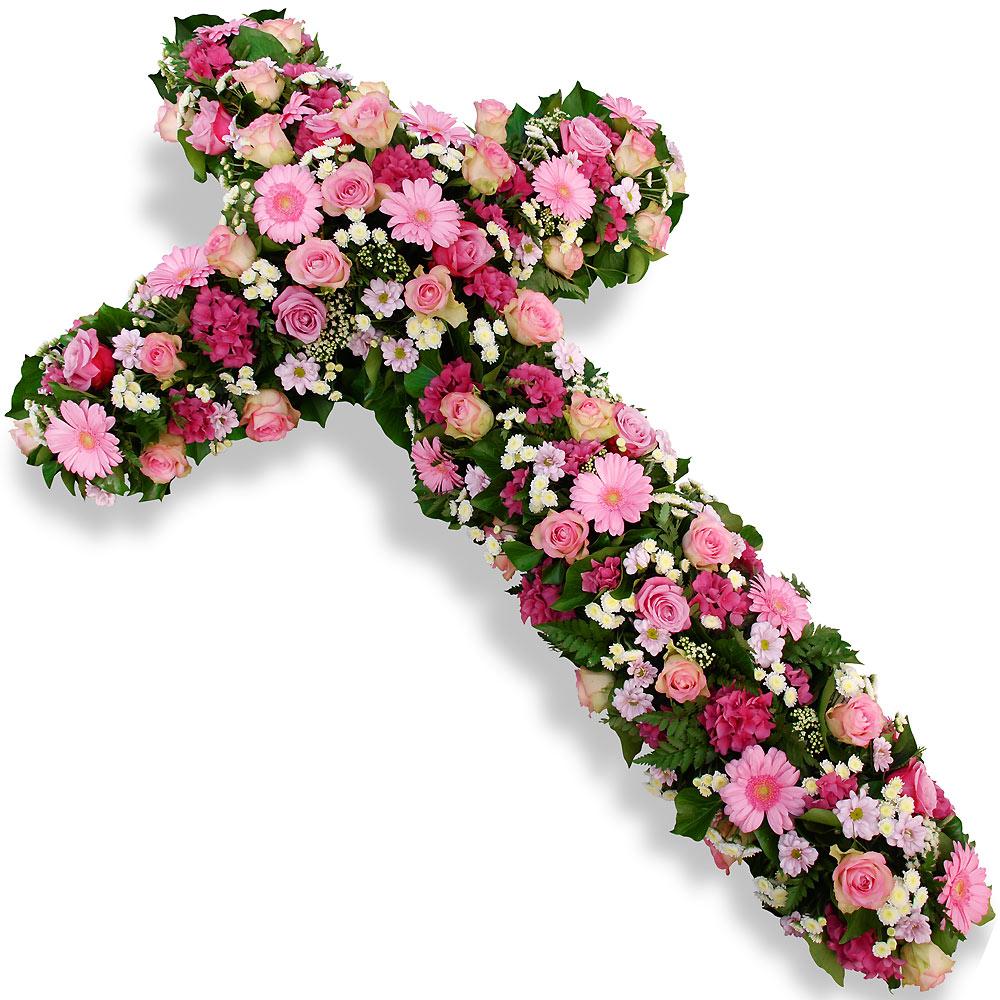 crois de fleurs deuil