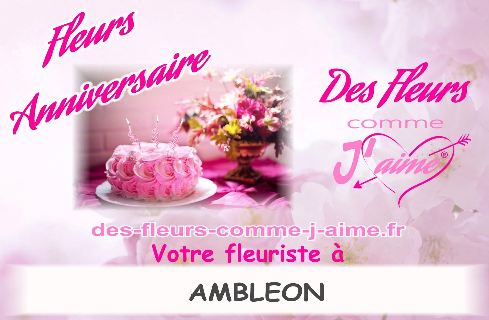 FLEURS ANNIVERSAIRE AMBLEON