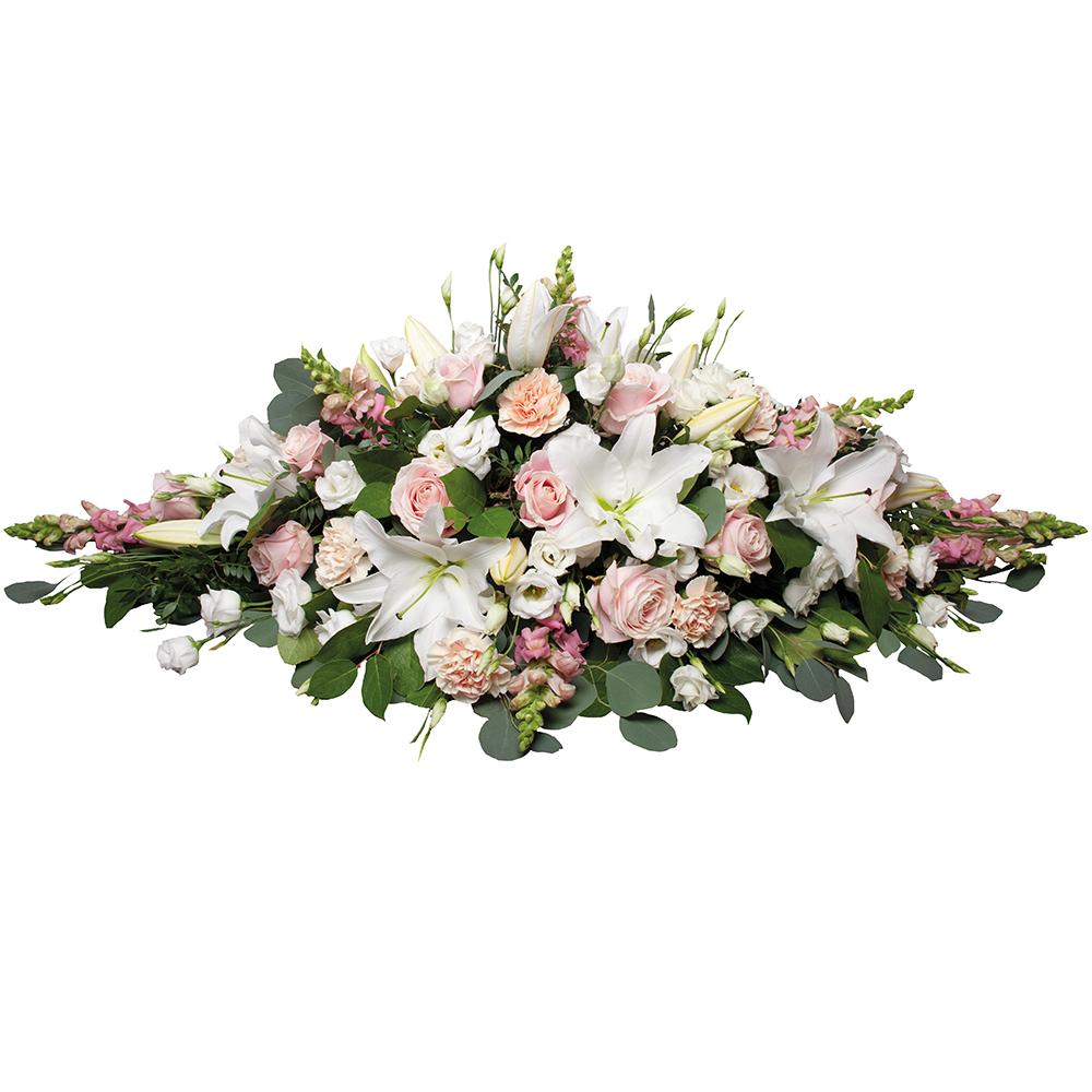 raquette de fleurs deuil